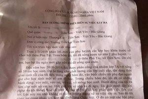 Thầy giáo bị 'tố' dâm ô 13 nữ sinh ở Bắc Giang: 'Tôi có vỗ mông học sinh'