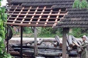 Lốc xoáy cuốn bay hàng chục mái nhà dân ở Nghệ An