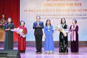 Trao Giải thưởng Kovalevskaia năm 2018