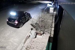 Bất ngờ đôi nam nữ đi xế hộp 'chung tay' bê trộm đào trong đêm khuya thanh vắng