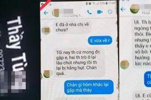 Thầy giáo gạ tình nữ sinh Thái Bình qua tin nhắn: 'Tôi rất hối hận'