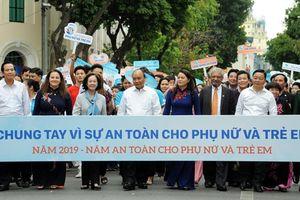 Thủ tướng Nguyễn Xuân Phúc dự lễ phát động 'Năm An toàn cho phụ nữ và trẻ em'