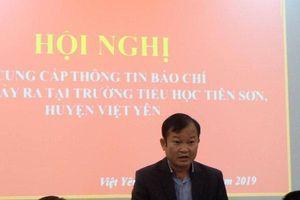 Thông tin chính thức kết quả vụ thầy giáo bị tố dâm ô hàng loạt học sinh ở Bắc Giang