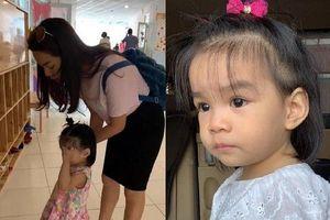 Phạm Quỳnh Anh thương khi con gái vừa khóc mếu máo vừa vẫy tay chào mẹ