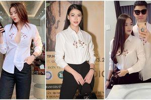 Thêm 1 mẫu áo sơ mi quốc dân 'lấy lòng' từ hoa hậu Kỳ Duyên, Phương Khánh đến các cầu thủ như Văn Thanh, Bùi Tiến Dũng