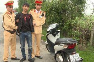 Trộm xe SH ở Hà Nội, mang về Thái Bình tiêu thụ thì bị CSGT bắt