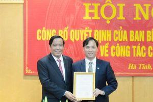 Ông Hoàng Trung Dũng được chuẩn y là Phó Bí thư Thường trực Tỉnh ủy Hà Tĩnh