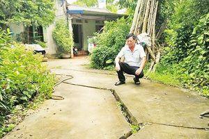 Đảo lộn cuộc sống vì sụt lún đất