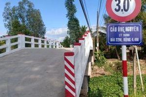 Bạc Liêu: Tháo dỡ biển cầu gắn tên Phó Chủ tịch UBND xã Vĩnh Bình