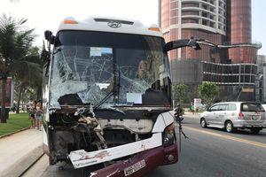 Tai nạn liên hoàn xe ben - xe khách - Grab bike