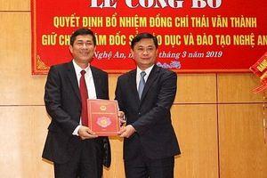 Bổ nhiệm Phó hiệu trưởng trường ĐH Vinh giữ chức Giám đốc Sở Giáo dục & Đào tạo Nghệ An