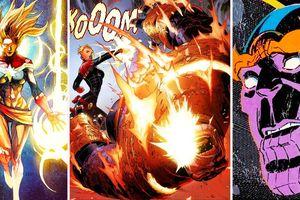 Trong comics, liệu Captain Marvel có đủ khả năng hạ gục được Thanos không?