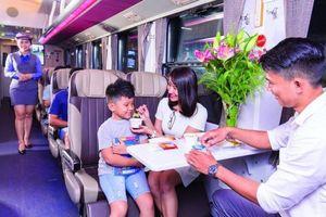 Đường sắt bỏ miễn phí 'suất ăn hàng không' trên tàu