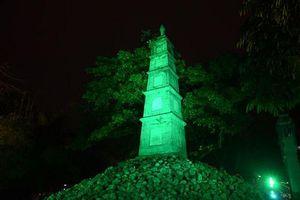 'Nhuộm xanh' Tháp bút Hà Nội vào cuối tuần này