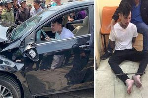 Thanh niên nghi 'ngáo đá' lái ôtô gây tai nạn trên nhiều tuyến phố
