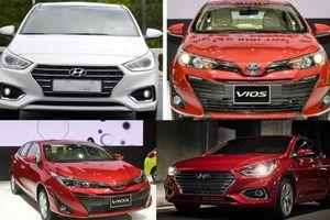 Phân khúc sedan hạng B: Hyundai Accent cho Toyota Vios 'hít khói'