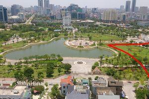 Xin xén công viên Cầu Giấy để làm bãi đỗ xe, nhà hàng tiệc cưới