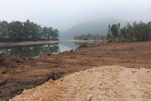 Doanh nghiệp lấp hồ làm dự án ở Vĩnh Phúc: Dừng thi công để xác định lại mốc giới