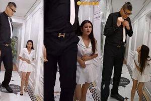 Thực hư ảnh mỹ nữ 1,6m đau bụng dưới khi đi khách sạn với chàng cao 2,38m