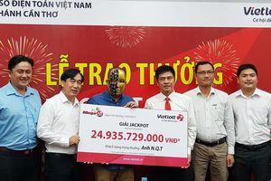 Người đàn ông ở Cần Thơ 'ẵm' giải Jackpot gần 25 tỷ đồng