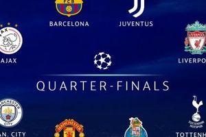 Manchester United gặp khó, Juventus và Liverpool dễ thở ở tứ kết Champions League