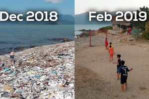 Thử thách dọn rác ở bãi biển Vĩnh Lương, Nha Trang đang gây bão mạng