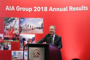 Năm 2018, kinh doanh của Tập đoàn AIA tăng trưởng mạnh mức 2 con số