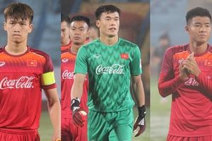 Đội hình xuất phát U23 Việt Nam ở trận đấu tập U23 Đài Bắc Trung Hoa