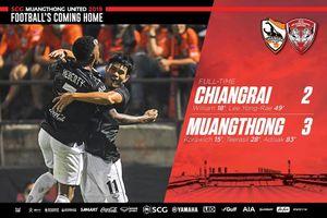Văn Lâm cùng Muangthong United thắng kịch tính Chiangrai United