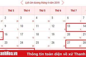Người lao động nghỉ 8 ngày dịp Giỗ tổ Hùng Vương và 30-4