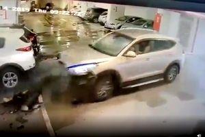 Lao vào hầm xe như tên bắn, Hyundai Tucson đâm nát Kia Morning