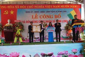Quảng Ngãi: Xã Bình Long đón nhận danh hiệu xã đạt chuẩn nông thôn mới