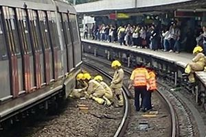 Dịch vụ tàu MTR tại Hong Kong gián đoạn sau vụ 2 tàu đâm nhau