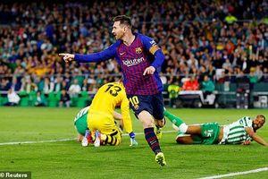 Betis 1-4 Barcelona: Lionel Messi lập hat-trick, Barca tiến gần ngôi vương