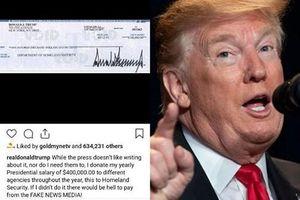 Tổng thống Trump góp 1/4 tiền lương hàng năm cho Bộ An ninh Nội địa Mỹ