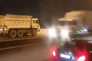 Tước bằng lái tài xế lái xe ben ngược chiều trên cao tốc