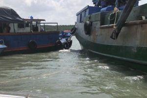 Chìm tàu trên sông Gò Gia, thuyền trưởng mất tích