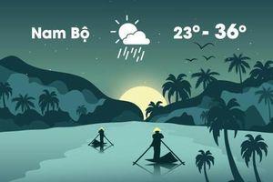 Thời tiết ngày 20/3: Nam Bộ ngày nóng 36 độ C, chiều tối mưa dông