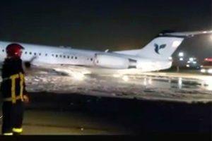 Gặp sự cố khi hạ cánh, máy bay chở khách bất ngờ bốc cháy ngùn ngụt tại Iran
