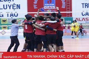 Bóng chuyền Hà Tĩnh xuất sắc vào chung kết Cup Hoa Lư 2019