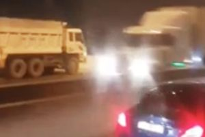 Tước giấy phép lái xe tài xế xe ben đi ngược chiều trong cao tốc