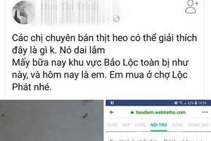 Tung tin bịa đặt heo nhiễm sán, chủ tài khoản Facebook ở Lâm Đồng bị phạt nặng