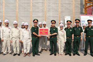 Đoàn Bộ Quốc phòng thăm công trường Nhà Quốc hội Lào mới