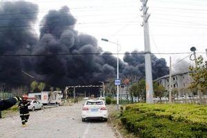 Nổ lớn tại nhà máy hóa chất ở Trung Quốc, nhiều người thương vong