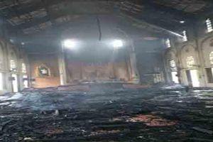 Cháy lớn ở nhà thờ giáo xứ Thọ Vực
