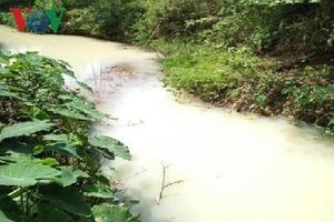 Đà Nẵng: Kiểm tra, xử lý tình trạng nước có màu trắng đục chảy ra từ hệ thống thoát nước mưa KCN Hòa Cầm