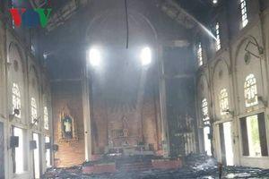 Cháy lớn tại nhà thờ ở Hà Tĩnh, nhiều tài sản bị thiêu rụi