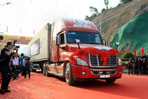 Thông xe tuyến đường chuyên dụng vận tải hàng hóa Tân Thanh (Việt Nam) – Pò Chài (Trung Quốc)