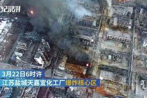 Kinh hoàng vụ nổ nhà máy hóa chất Trung Quốc làm 36 người thương vong