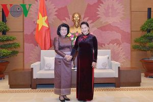 Chủ tịch Quốc hội tiếp Phó Chủ tịch Quốc hội Campuchia Khuon Sudary